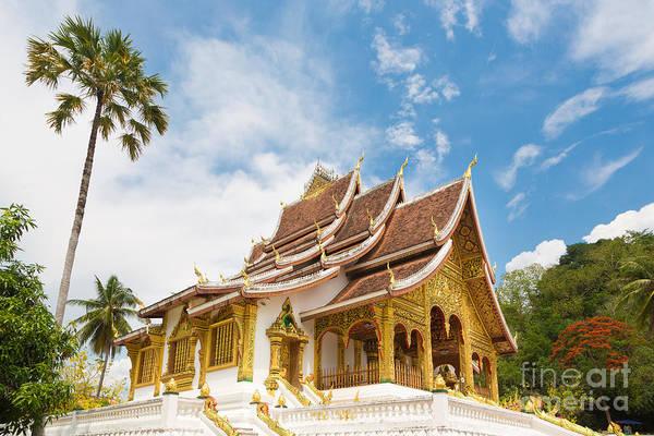 Photograph -  Haw Pha Bang Temple In Luang Prabang In Laos by Didier Marti