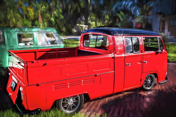 Photograph - 1968 Vw Type 2 Pick Up Truck Painted by Rich Franco