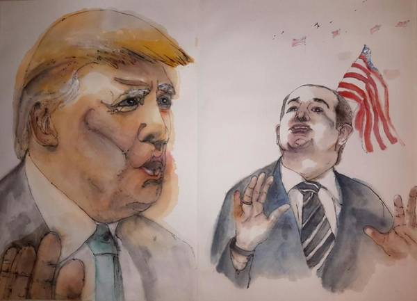 Election 2016 Painting - 2016 Presidential Campaign  Album  by Debbi Saccomanno Chan