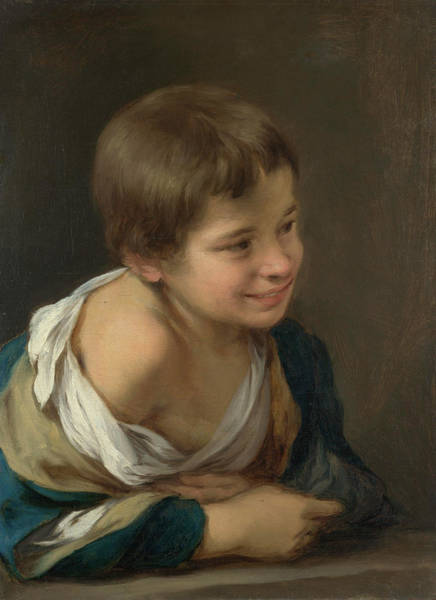 Sill Wall Art - Painting - A Peasant Boy Leaning On A Sill by Bartolome Esteban Murillo