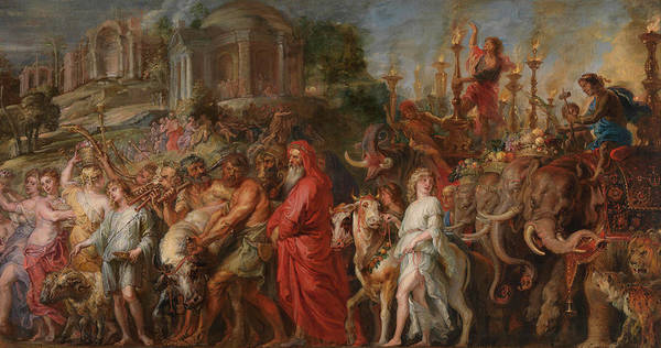 Trumpeter Painting - A Roman Triumph by Peter Paul Rubens