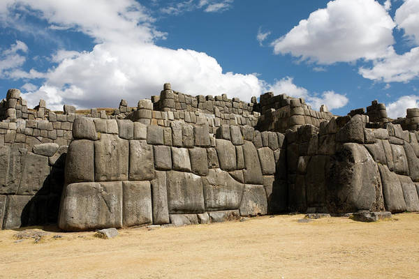 Photograph - A Section Of The Wall Of Saksaywaman by Aivar Mikko