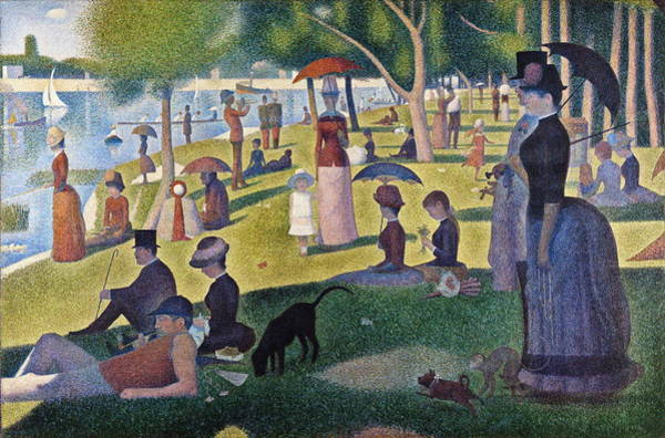 Fashion Plate Painting - A Sunday On La Grande Jatte  by Georges Seurat