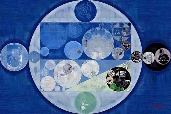 Wall Art - Digital Art - Abstract Painting - Echo Blue by Vitaliy Gladkiy