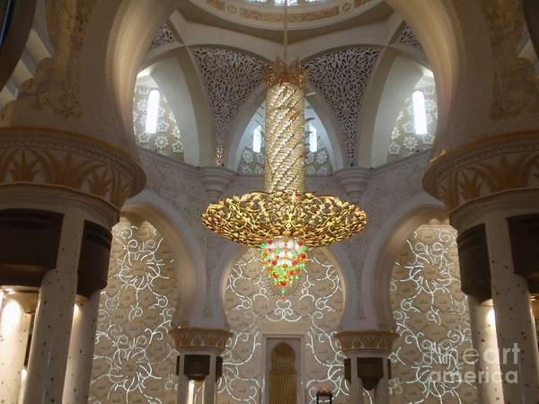 Abu Dhabi Sheikh Zayed Mosque Art Print by Valia Bradshaw