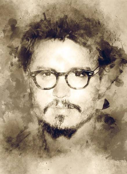 Joe Perry Digital Art - Actor Johnny Depp  by Lilia Kosvintseva