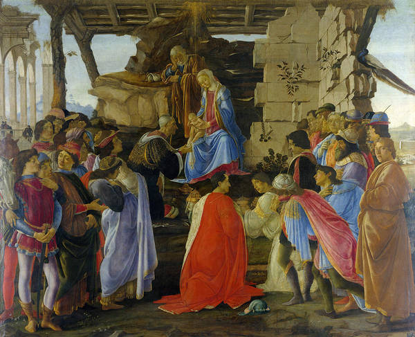 Redeemer Wall Art - Painting - Adoration Of The Magi by Sandro Botticelli