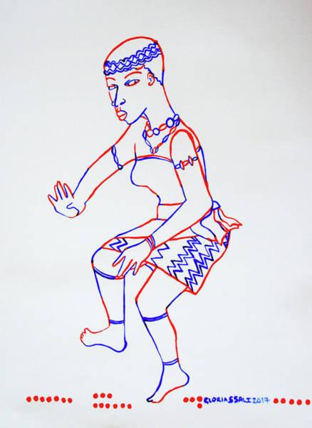 Ghana Painting - Adowa Dance - Ghana by Gloria Ssali