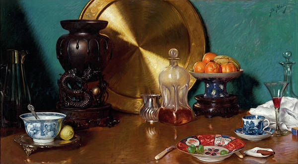 Painting - After Dinner by Bernard Hall