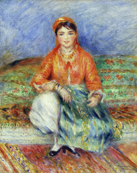 Painting - Algerian Girl by Pierre-Auguste Renoir