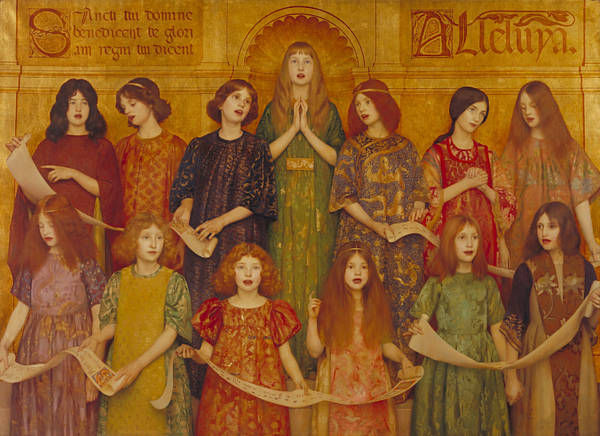 Wall Art - Painting - Alleluia by Thomas Cooper Gotch