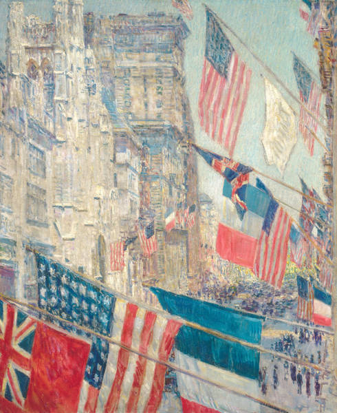 Raising Wall Art - Painting - Allies Day, May 1917 by Childe Hassam