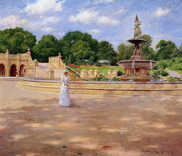 Wall Art - Painting - An Early Stroll In The Park by William Merritt Chase