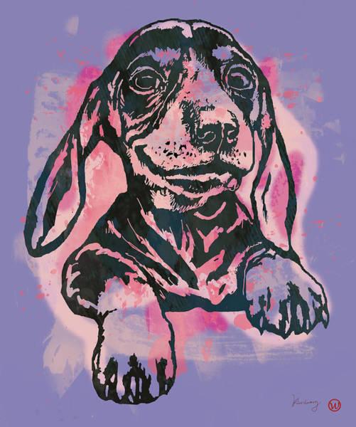 Carnivorous Drawing - Animal Pop Art Etching Poster - Dog  5  by Kim Wang