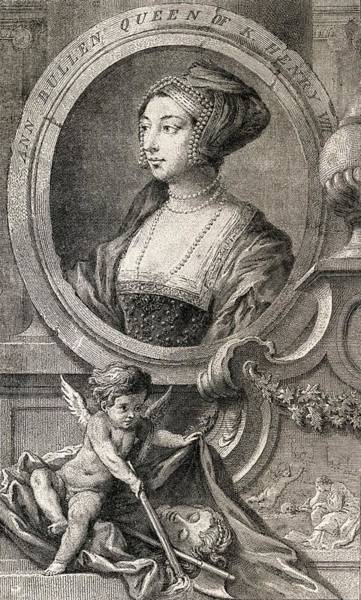 Wall Art - Drawing - Anne Boleyn Also Spelled Bullen by Vintage Design Pics