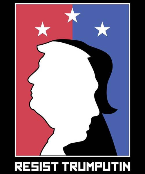 Midterm Wall Art - Digital Art - Anti Trump Art Impeach President Resist Putin Dark by Nikita Goel