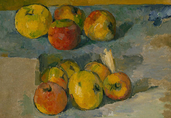 Wall Art - Painting - Apples by Paul Cezanne
