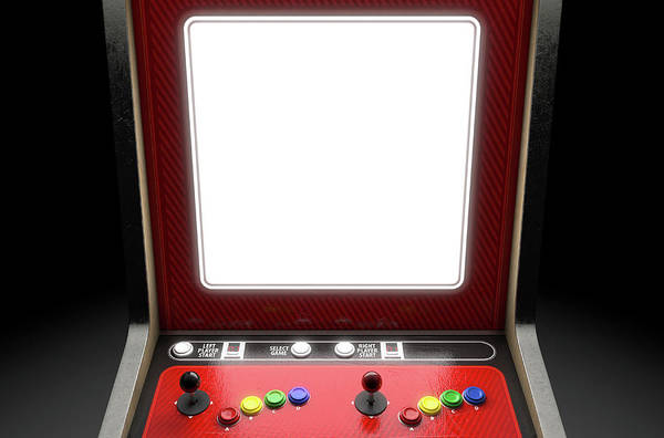 Controller Digital Art - Arcade Machine Screen by Allan Swart