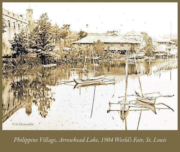 Arrow Head Lake, Philippine Village, 1904 Worlds Fair, Vintage P Art Print
