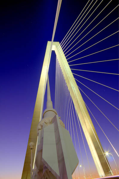 Cable-stayed Bridge Photograph - Arthur Ravenel Jr. Bridge  by Dustin K Ryan