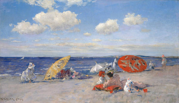 Painting - At The Seaside by William Merritt Chase