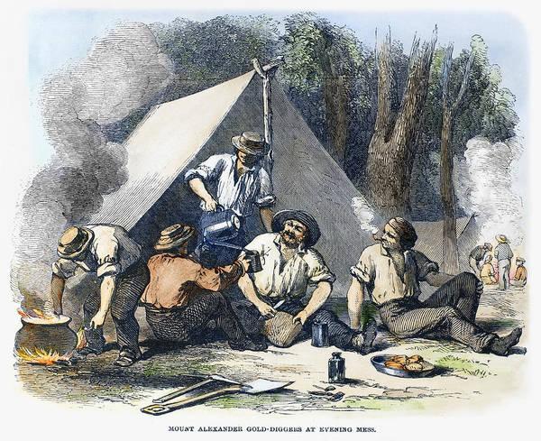 Campsite Wall Art - Photograph - Australian Gold Rush, 1851 by Granger