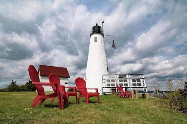 Wall Art - Photograph - Bakers Island Lighthouse Salem by Jeff Folger