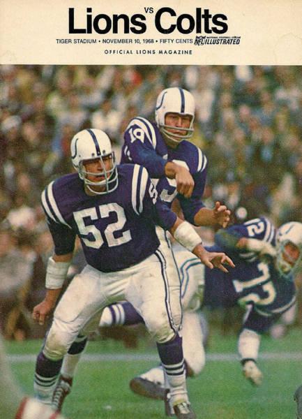 Baltimore Colts Photograph - Baltimore Colts Vintage Program by Joe Hamilton