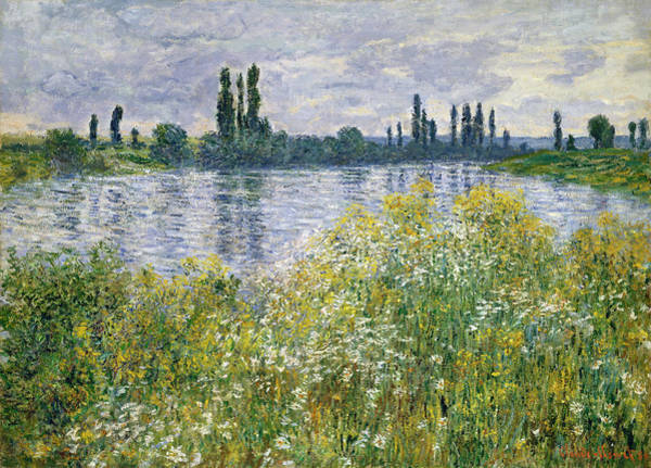 Banks Of The Seine, Vetheuil Art Print