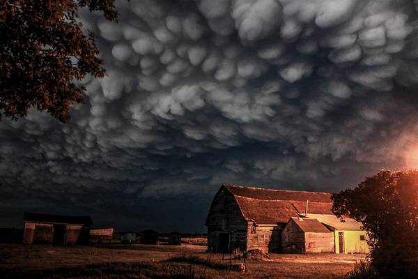 Photograph - Barn Storm by David Matthews