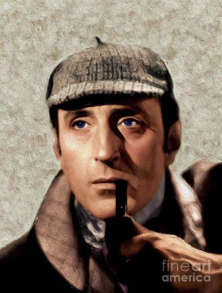 Wall Art - Painting - Basil Rathbone As Sherlock Holmes by John Springfield