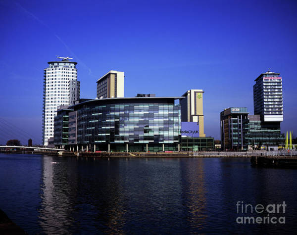 Greater Manchester Wall Art - Photograph - Bbc Media City  North Bay Salford Quays Salford Greater Manchester England by Michael Walters