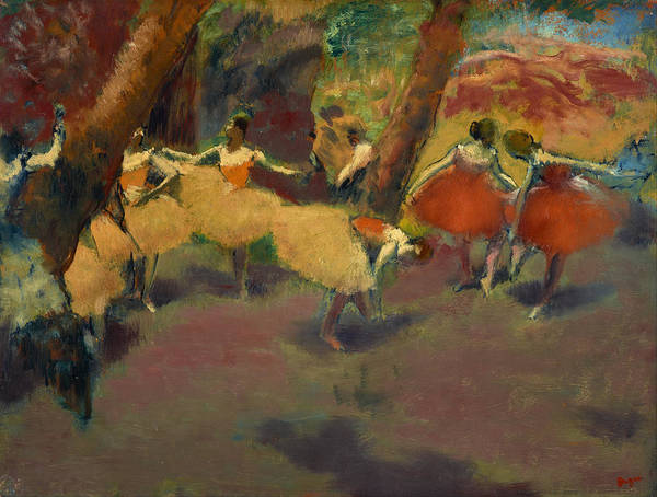 Painting - Before The Performance by Edgar Degas
