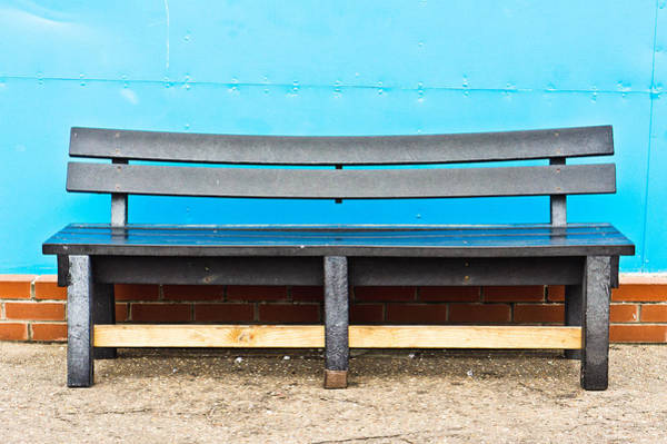 Metal Furniture Photograph - Bench by Tom Gowanlock