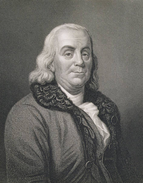 Patriot Drawing - Benjamin Franklin by Joseph Siffred Duplessis