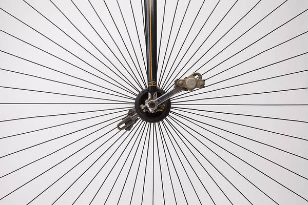 Spokes Photograph - Bicycle Wheel by American School