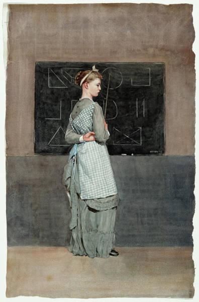 Painting -  Blackboard by Winslow Homer