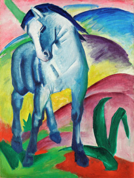 The Blue Rider Wall Art - Painting - Blue Horse by Franz Marc