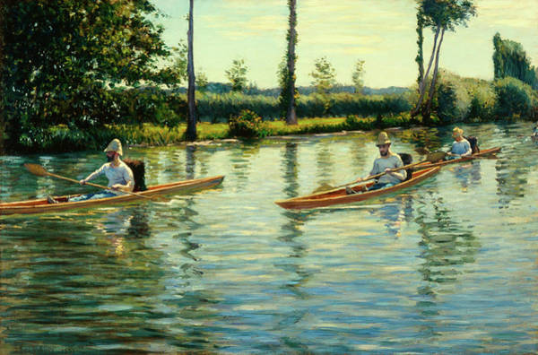 Wall Art - Painting - Boating On The Yerres by Gustave Caillebotte