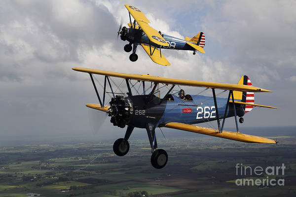 Landing Gear Photograph - Boeing Stearman Model 75 Kaydet In U.s by Daniel Karlsson