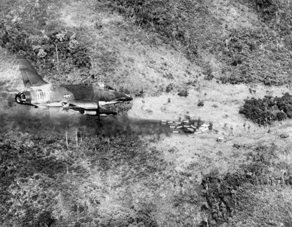 Photograph - Bombing Vietnam by Underwood Archives