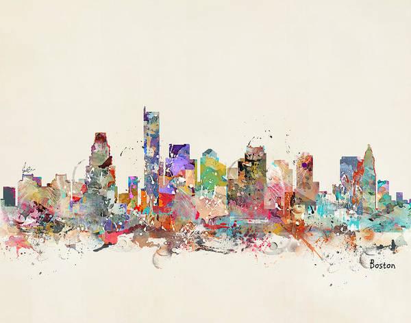 Massachusetts Painting - Boston City Massachusetts by Bri Buckley