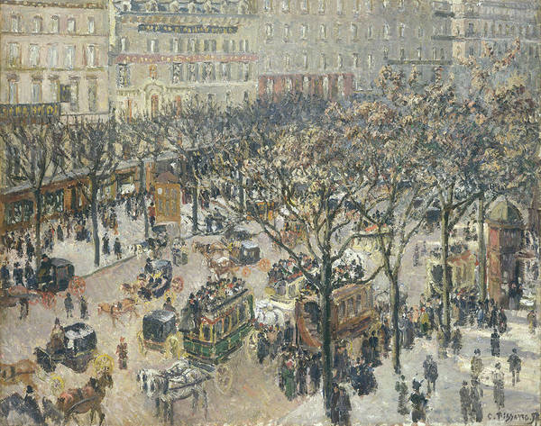Painting - Boulevard Des Italiens, Morning, Sunlight by Camille Pissarro