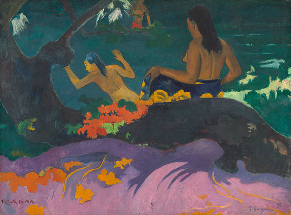 Painting - By The Sea by Paul Gauguin