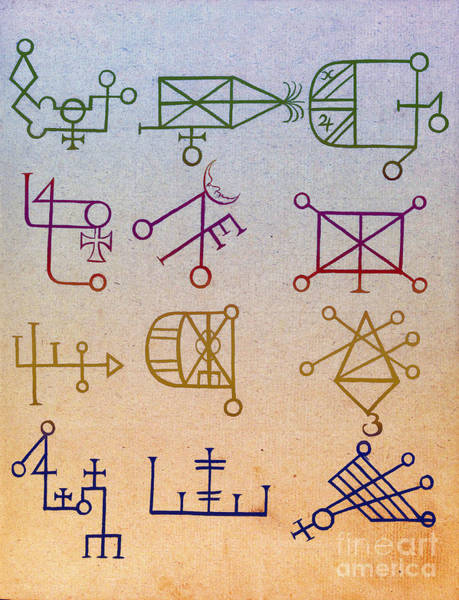 Wall Art - Photograph - Cabbalistic Signs And Sigils, 18th by Science Source