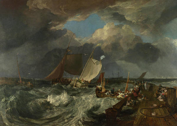 Ocean Scape Painting - Calais Pier by Joseph Mallord William Turner