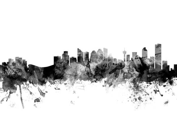 Alberta Wall Art - Digital Art - Calgary Canada Skyline by Michael Tompsett