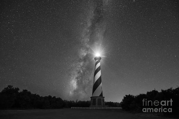 Mv Photograph - Cape Hatteras Lighthouse Milky Way by Michael Ver Sprill