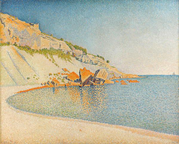 Azure Painting - Cassis, Cap Lombard, Opus 196 by Paul Signac