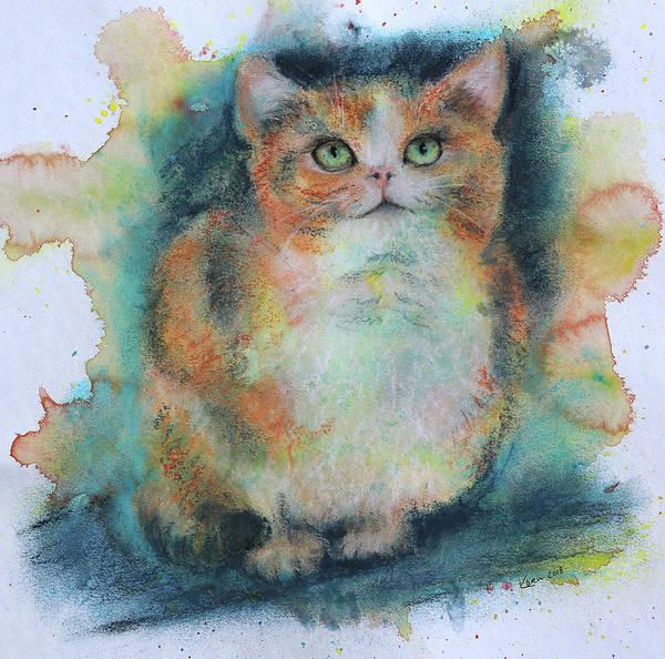 Wall Art - Painting - Cat Portrait by Karen Kaspar